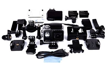 Action Camera 14-in-1 Accessories Bundle W// Case for Lamax X8 Electra