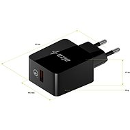 AlzaPower Q100 Quick Charge 3.0 black - AC Adapter