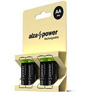 AlzaPower Rechargeable HR6 (AA) 2500 mAh 4 pcs in Eco-box - Rechargeable Battery