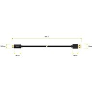 AlzaPower Core USB-C 3.2 Gen1, 2m Black - Data cable
