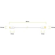 AlzaPower Core Charge 2.0 USB-C, 3m, White - Data cable