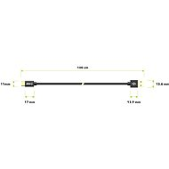AlzaPower AluCore Charge 2.0 USB-C 1m Black - Data cable