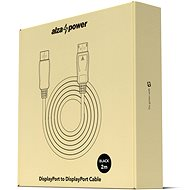 AlzaPower DisplayPort (M) to DisplayPort (M) Cable, Shielded, 2m, Black - Video Cable