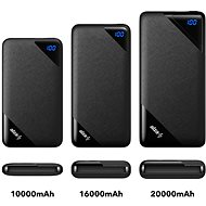 AlzaPower Source 10000mAh Quick Charger 3.0 Black - Powerbank
