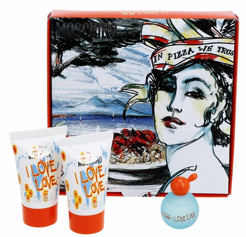 gift for woman; gift set Moschino I Love Love