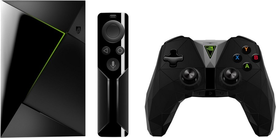 The new NVIDIA SHIELD TV, with a smaller body and improved controller