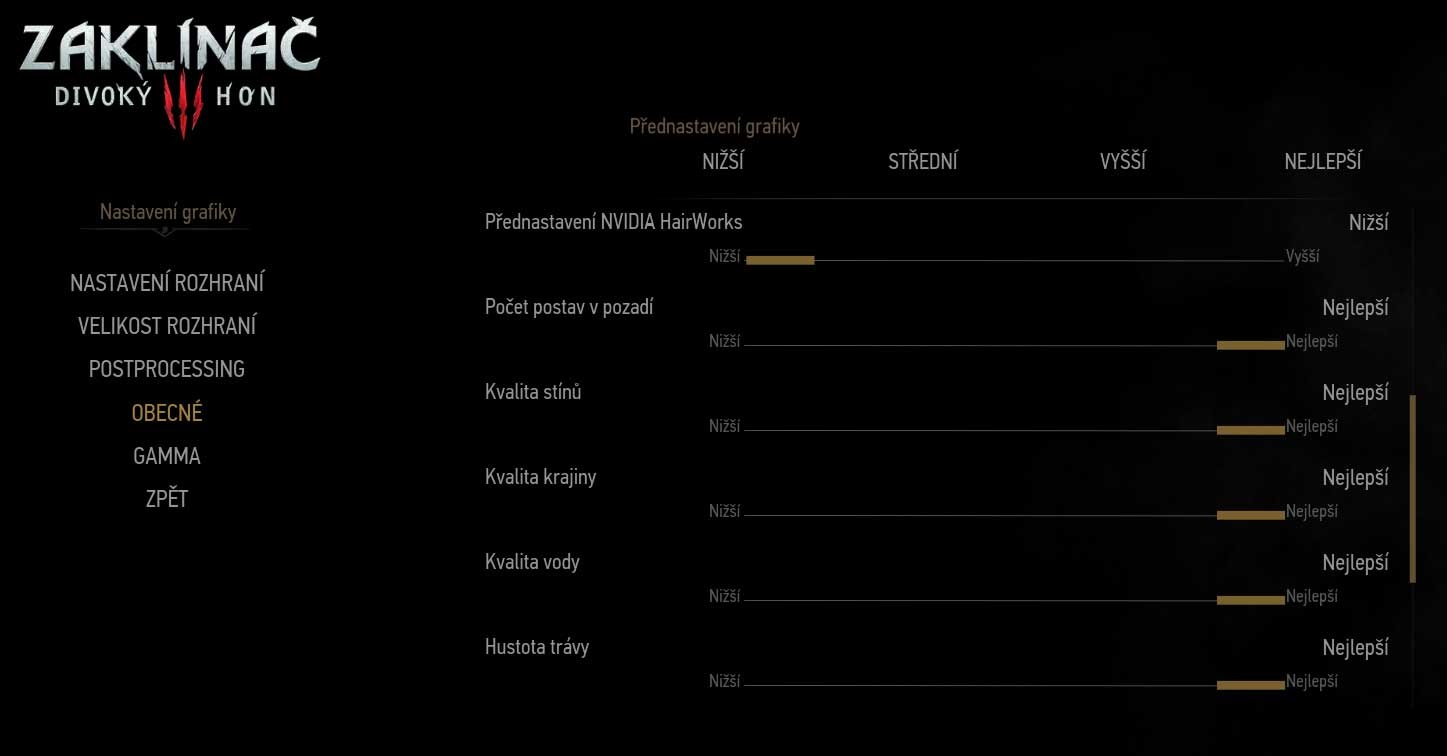 The Witcher 3: Wild Hunt General Game Settings 2