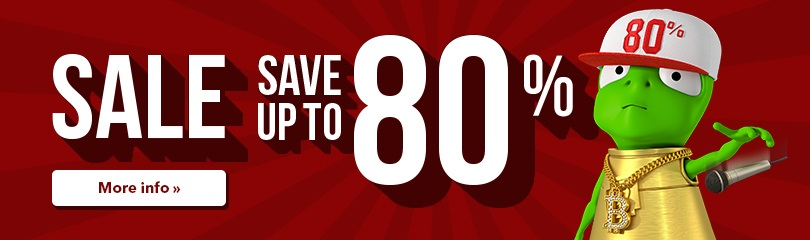 Sale! Save up to 80 %.
