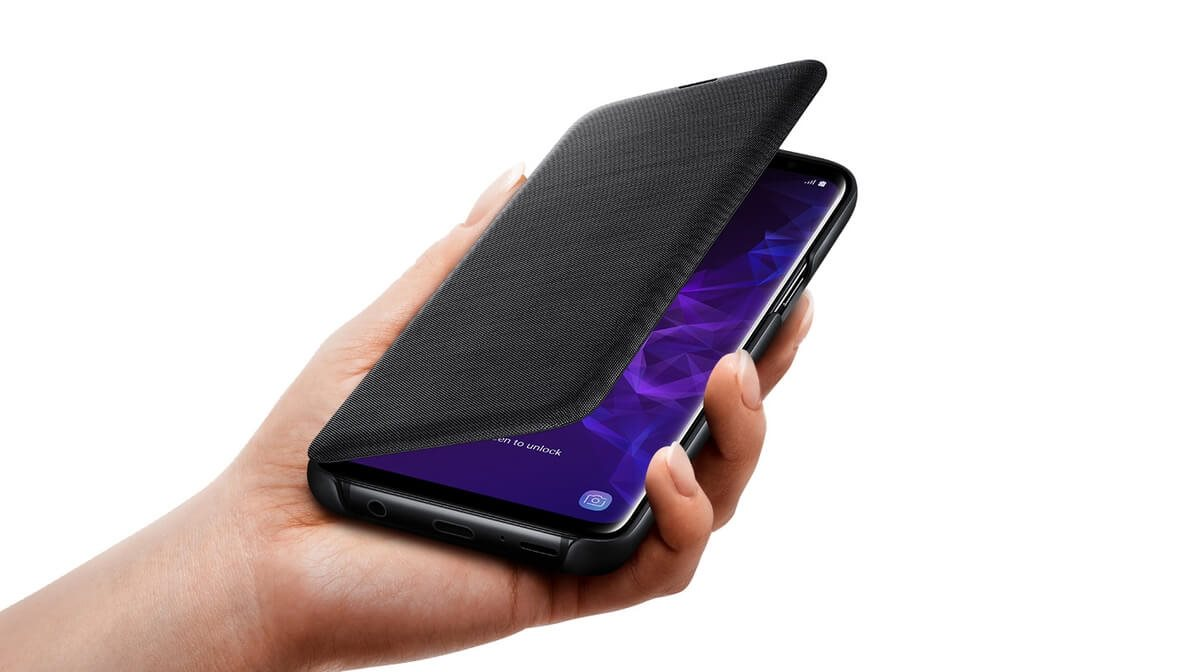 new product 6657a a4c9d Samsung Galaxy S9 LED View Cover black