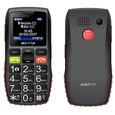 Aligator A440 Senior Black-Orange + Desktop Charger - Mobile Phone