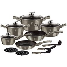 BerlingerHaus Cookware Set Carbon Metallic Line 15pcs - Pot Set