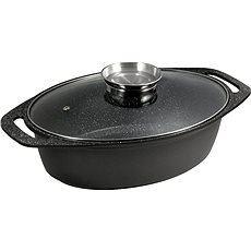 CS Solingen MARBURG pearl with marble surface and flavor 32cm - Roasting Pan