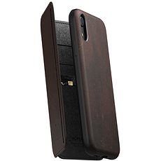 Nomad Folio Leather Tri-Fold Brown iPhone XR - Mobile Case