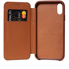 Decoded Leather Slim Wallet Brown iPhone XR - Mobile Case
