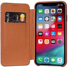 Decoded Leather Slim Wallet Brown iPhone XS/X - Mobile Case