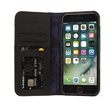 Decorated Leather Case Wallet Case 2 Black iPhone 8/7/6s - Mobile Phone Case