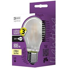EMOS LED Filament A60 A++ 6.5W E27 Matt, Warm White - LED bulb