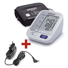 OMRON M3 with a colour hypertension indicator + a power source - Pressure Monitor