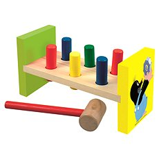 Bino Hammer Bench - Little Mole - Educational toy