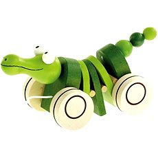 Bino Pull-Along crocodile - Push and Pull Toy