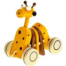 Bino Accordions giraffe - Push and Pull Toy