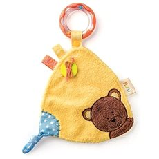 Niny Cuddle Toy with Rattle, Matahi the Little Bear - Baby Rattle