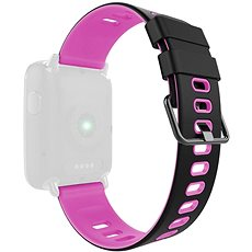 IMMAX for SW9 watch, black and pink - Watch band