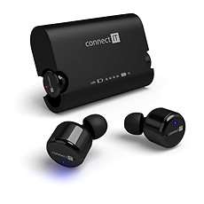 CONNECT IT True Wireless HYPER-BASS Black - Headphones with Mic