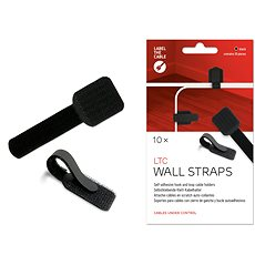 LABEL THE CABLE Wall Straps 3110 Wall BK, 10-pack - Cable Management