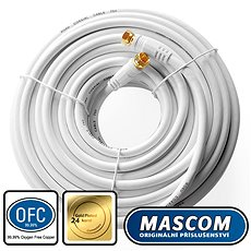 Mascom coaxial cable 7676-200W, connectors F 20m - Antenna cable