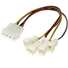 AKASA 4-pin PSU molex - Charging Splitter