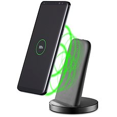 Cellularline WIRELESS FAST CHARGER STAND with USB-C black - Wireless charger