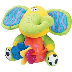 Playgro Rustling elephant with teethers - Plush Toy