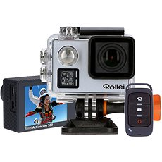 Rollei ActionCam 530 Silver + Extra Spare Battery - Digital Camcorder