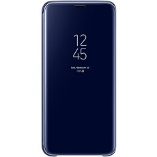 Samsung Galaxy S9 Clear View Standing Case blue - Mobile Phone Case