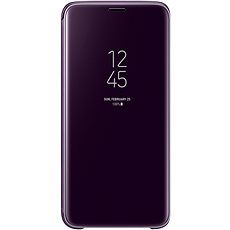 Samsung Galaxy S9 Clear View Standing Cover Purple - Mobile Phone Case