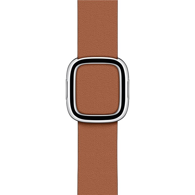 40mm Apple Watch Saddle Brown Modern Buckle - Large - Watch Band