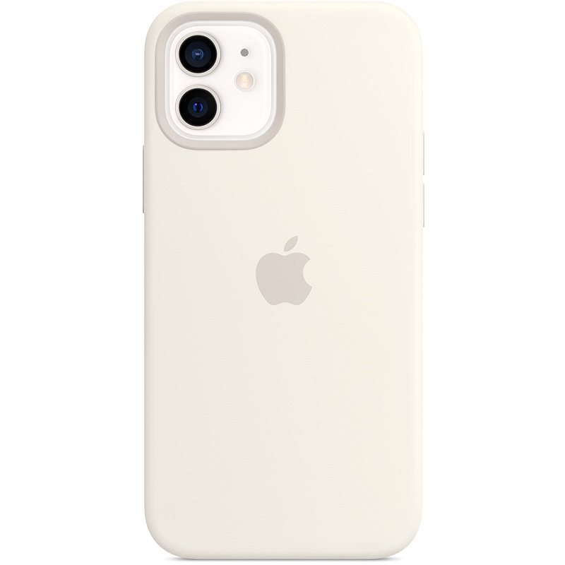Apple iPhone 12 Mini Silicone Case with MagSafe, White - Mobile Case