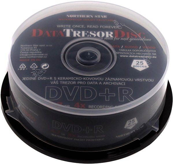 photo relating to Printable Dvd Rs known as Information and facts TRESOR DISC DVD + R Printable 25computers cakebox - Media