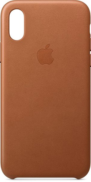 iPhone XS Leather Cover Saddle Brown - Mobile Case
