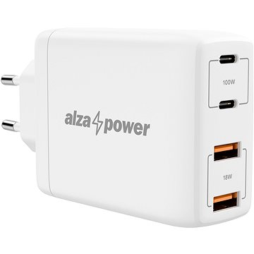 AlzaPower G300 GaN Fast Charge 100W White - AC Adapter