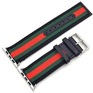 Eternico 38mm Apple Watch Nylon Band, Black Green Red - Watch band