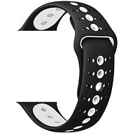 Eternico 42mm / 44mm Silicone Polkadot Band Black White for Apple Watch - Watch band