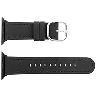 Eternico 42mm Apple Watch Leather Band Classic Black - Watch band