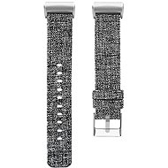 Eternico Fitbit Charge 3 / 4 Canvas Grey (Large) - Watch band