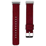 Eternico Fitbit Charge 3 / 4 Canvas Red (Large) - Watch band