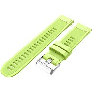 Eternico Garmin Quick Release 22 Silicone Band Silicone Silver Buckle, Lime - Watch band