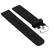 Eternico Silicone with Metal Buckle, Black for Huawei Watch GT 2, 42mm - Watch Band