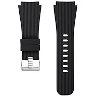 Eternico Quick Release 22 Silicone Vertical Grain Silver Buckle black for Samsung Galaxy Watch - Watch Band