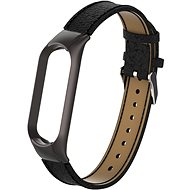Eternico Mi Band 5 Genuine Leather Black - Watch band